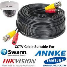Bnc 40 M Negro DC CCTV Seguridad Video Cámara DVR Hikvision Power Cable Nuevo récord