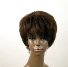 Perruque afro femme 100% cheveux naturel châtain ref JEAN 04/6