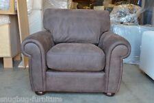 Blenheim Armchair in Brown African Ashanti Leather Dark Legs RRP £799 Brand New