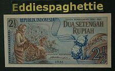 Indonesia 2 ½  Rupiah 1961 UNC P-79