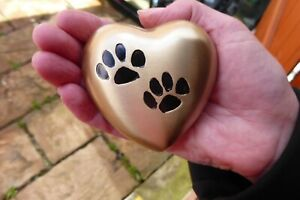 MINI CREMATION URN  HEART SHAPE MADE WITH YOUR PET DOG IN MIND GOLD OR SILVER