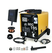 MIG 195 MAG 220v Welder Flux Stainless Aluminum Welding Machine Gas/ No Gas