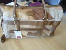 Holdall bag womens , Suede patchwork tan, one size, brand new unused