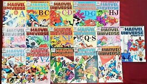 OFFICIAL HANDBOOK OF THE MARVEL UNIVERSE 1-15 complete set 1983 Plus # 1 UPDATED