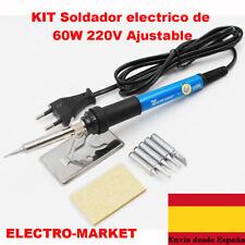 SOLDADOR DE ESTAÑO ELECTRICO PROFESIONAL 60W-220V Incluye Kit con Piezas