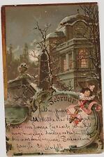 """Ansichtskarte beschrieben, """"Februar"""" 22.3.1900, russ. Frankatur"""