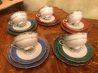 6 cups 6 saucers 5 Plates JLMenau Graf Von Henneberg Porcelain Coffee Set