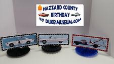 DUKES OF HAZZARD-  HAZZARD COUNTY BIRTHDAY DECORATIONS- HAZZARD CAR FANS