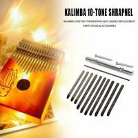 Stahl Thumb Piano Bridge Sattel 10 Schlüssel Set Kit für Kalimba DIY Ersatzteil