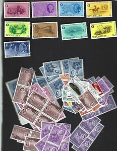 Seychelles sc#370-8 (1976) Complete MLH + Nice lot