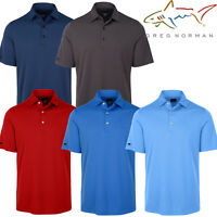 Greg Norman 2017 Mens Textured Golf Polo Shirt