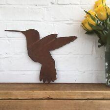Rusty Zumbido Pájaro Signo de Metal de inicio Tienda Decoración de jardín signo animal
