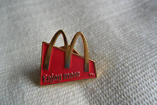 A nice McDonald's Enjoy more pin lapel badge,free u.k.p&p
