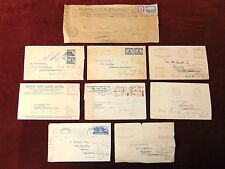 8 SOUTH AFRICA WWII Era Covers 1941 One Official Overprint / One Censored