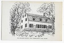 Sabbathday Lake ME Old Shaker Church Art Maine Vintage Postcard