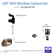 120° Angle Mini WiFi Window Camera for iPhone Android Smartphone Remote Viewing