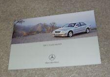 Mercedes C Class Brochure 2002 C32 AMG C220 C270 CDI C180K C200K C320 Avantgarde