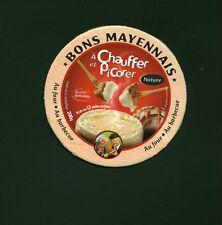 Etiquette de Fromage Carton  Camembert  Bons  Mayennais Nature  N° 364
