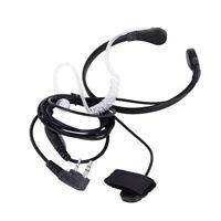 Throat Mic Earpiece Headset Finger PTT For Baofeng UV5R 888s Radio Walkie-Talkie
