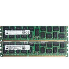 Micron 32GB 2x16GB 2Rx4 PC3-14900R DDR3-1866Mhz 240Pin ECC REG Server Memory RAM