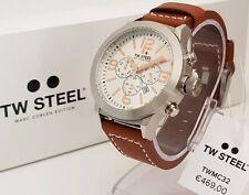 TW Steel Chrono chronograph reloj de pulsera reloj 45 mm cuero marrón nuevo reloj hombre 2