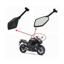 2x Black rear view side mirrors KAWASAKI NINJA 650R 2009-2015 400R 2010-2012 new