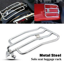 Motorcycle Chrome Solo Seat Rear Fender Luggage Rack Support Shelf Universal