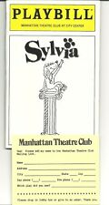 SYLVIA. MANHATTAN THEATRE CLUB PLAYBILL. NEW YORK. W/ SARAH JESSICA PARKER.