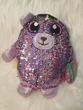 Shimmeez Reversible Sequin Bear, Reuben