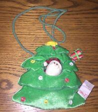 Gund Christmas Tree~Santa Peeker~ Girls Plush Purse