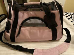 Paws & Pals PTCR01-SM-PK Airline Approved Pet Carrier - Pink