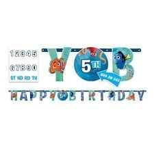 NEW Disney Finding Dory Nemo Jumbo Letter Banner Kit -Add an Age Birthday Decor~