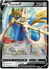 Zacian V 138/202 Pokemon Tcg Sword y escudo base Ultra Rara Menta/cerca de nuevo, sin usar
