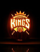 "Sacramento KINGS Team Logo / SK Emblem (Hand-Carved Foam Pumpkin 12"")"