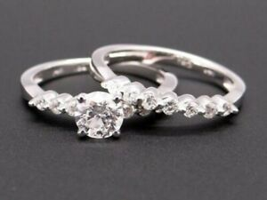 Gorgeous 2.27CT Round Cut Diamond Bubble Engagement Ring Set In 14K White Gold