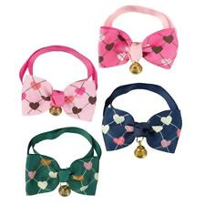 dog &cat  Pets Dog Adjustable Check Collar Cat Puppy Plaid Bow Tie Scarf Necklac