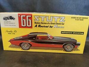 66 33 STUTZ SUPER BEARCAT Renwal Kit 1/25 Scale Plastic Model Car 102:198