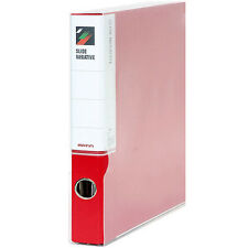 Matin 3-Ring Binder File Box Films Archival Film Sheets Sleeves Storage (Red)