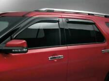 2011 thru 2019 Explorer OEM Genuine Ford Smoke Side Window Deflector Kit 4-pc