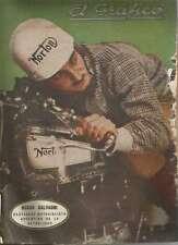 El Grafico Magazine Oscar Galvagni Motorcyclist On Cover 1937