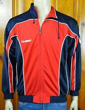 Hummel Red White Blue Track Jacket Zip Front Mens Sz Small 2 Pockets