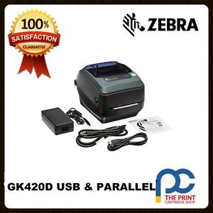 Zebra GK420D 203DPI Thermal Barcode Label Printer USB &  Parallel Interface