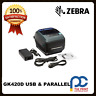 Zebra GK420D 203DPI Thermal Barcode Label Printer USB &  Parallel Interface