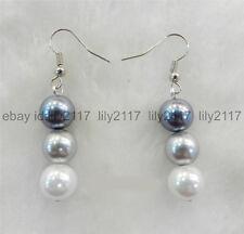 AA Fashion 10mm Multicolor South Sea Shell Pearl  Earrings