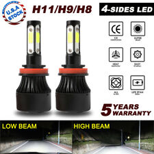 2x 4Sides H11 H8 H9 2400W 360000LM LED Headlight Headlamp Bulbs Conversion Kits