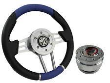 QUICK RELEASE BLUE V2 SPORTS STEERING WHEEL 310mm 6x70mm - MG