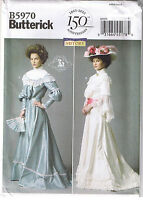 Historical Victorian Top Skirt Belt Dress Wedding Sewing Pattern 8 10 12 14 16