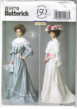 Historical Victorian Top Skirt Belt Dress Wedding Sewing Pattern 16 18 20 22 24