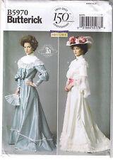 Historical Victorian Top Skirt Belt Dress Wedding Sewing Pattern 16 18 20 22 24