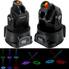 2x Mini Moving Head 15W LED Bühnenbeleuchtung Licht Spot Lichter DMX DJ Stage
